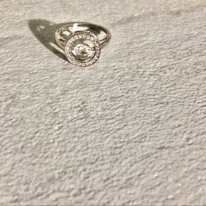Sterling Silver Zirconium Stone CZ Ring